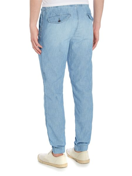 Polo Ralph Lauren Cotton linen blend chambray joggers