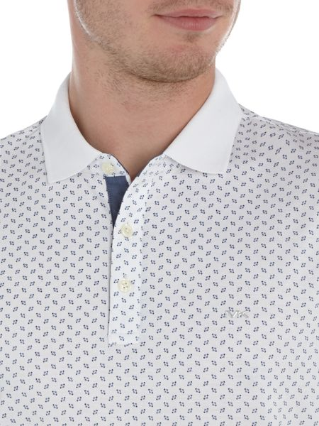Michael Kors Slim fit geo print polo shirt