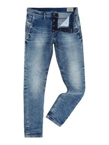 Diesel Kakee 853I slim carrot fit light wash acid jeans