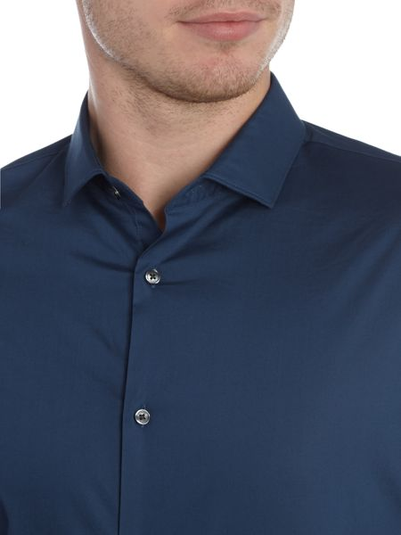 Michael Kors Slim fit long sleeve plain poplin shirt