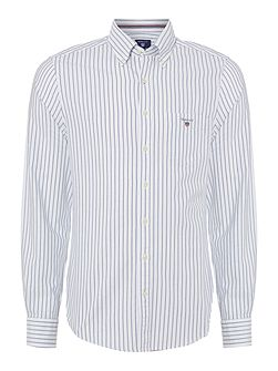 Pinstripe Oxford Long Sleeve Shirt