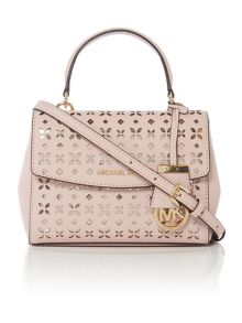 Michael Kors Ava pink mini crossbody satchel bag