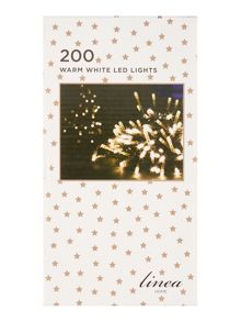 Linea 200 warm white LED christmas lights