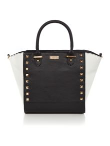 Lipsy Black studded tote bag