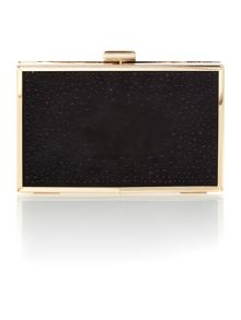 Lipsy Black diamante box clutch bag