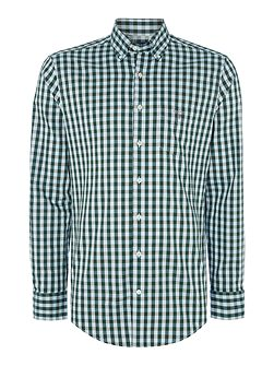 Gingham Long Sleeve Oxford Shirt