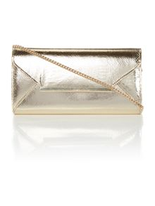 Lipsy Gold envelope clutch bag