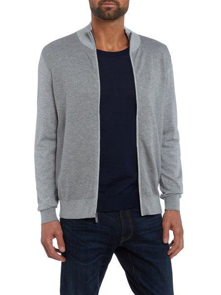 Michael Kors Funnel neck pique zip through jumper