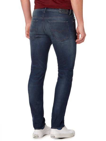 Diesel Buster 853R tapered mid wash jeans