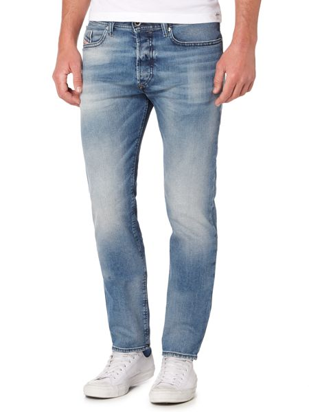 Diesel Buster 853P tapered light wash jeans