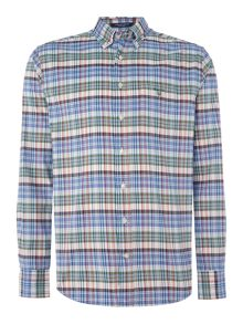 Gant Plaid Long Sleeve Oxford Shirt