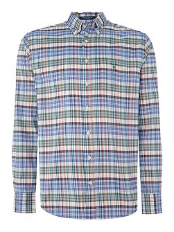 Plaid Long Sleeve Oxford Shirt