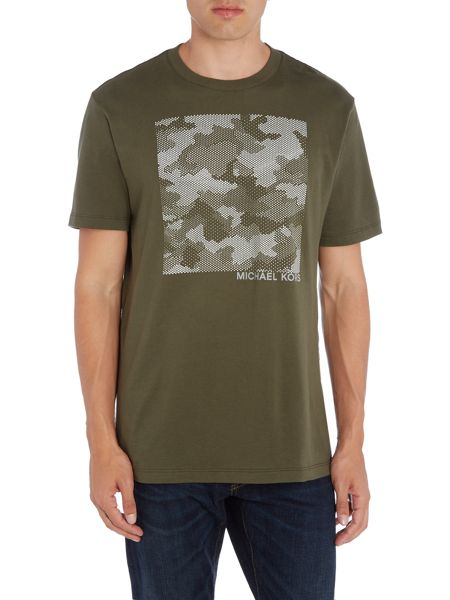 Michael Kors Slim fit square camo printed t shirt