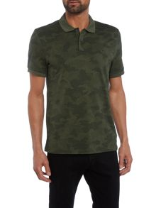 Michael Kors Slim fit digital camo printed polo shirt
