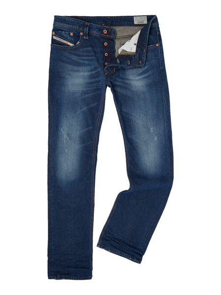 Diesel Larkee 853U straight fit mid wash blue jeans