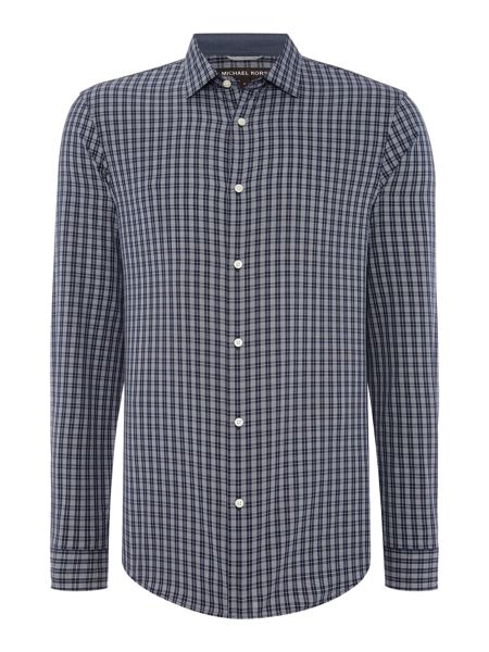 Michael Kors Slim fit long sleeve mini check shirt