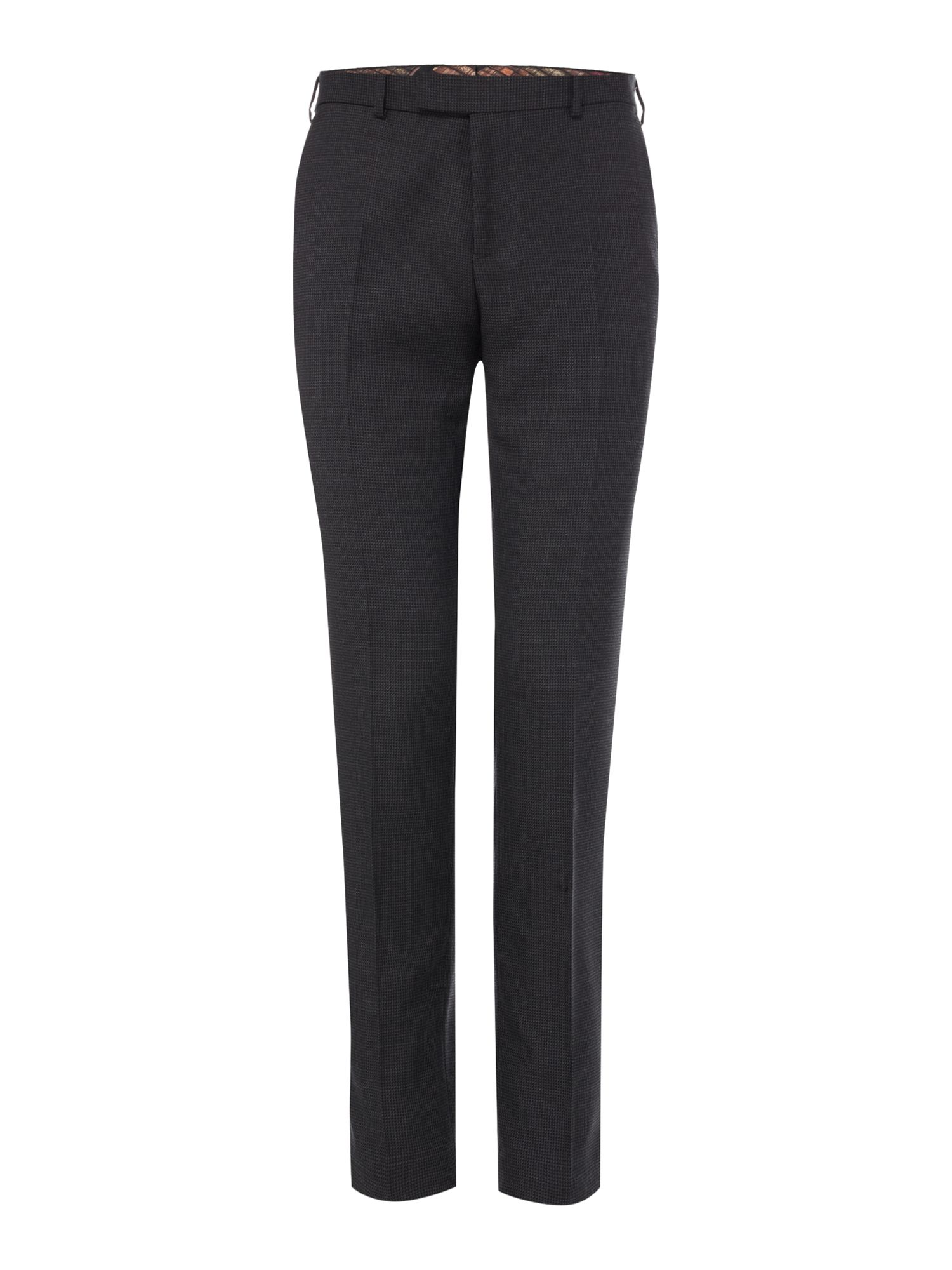 Mens Ted Baker Bob Texture Suit Trousers Charcoal