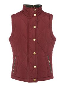 Barbour Girls Country Quilted Bird Trim Gilet