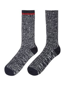Pringle 2 Pack Contrast Stripe Boot Socks