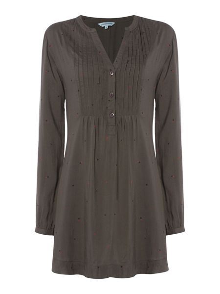 Dickins & Jones Tabetha tunic button front woven top