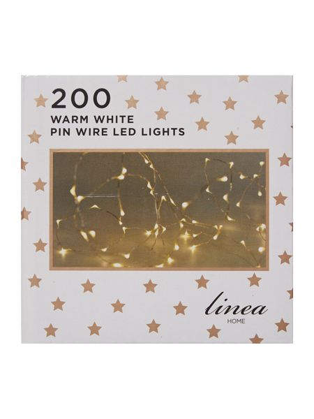Linea 200 LED pin wire lights in silver