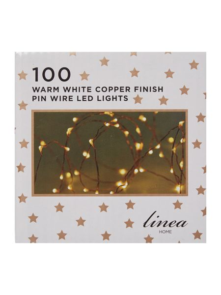 Linea 100 LED pin wire lights in copper