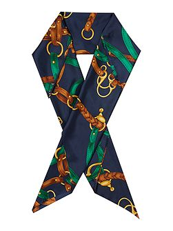 Katrina belt print large silk square scarf