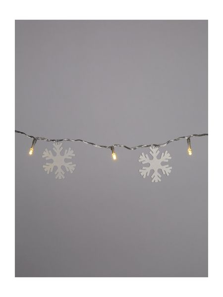 Linea Wooden snowflake string lights