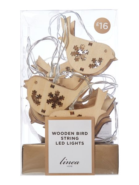 Linea Wooden bird string lights