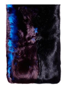 Ted Baker Wyn double stripe faux fur scarf