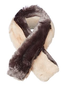 Wyn double stripe faux fur scarf