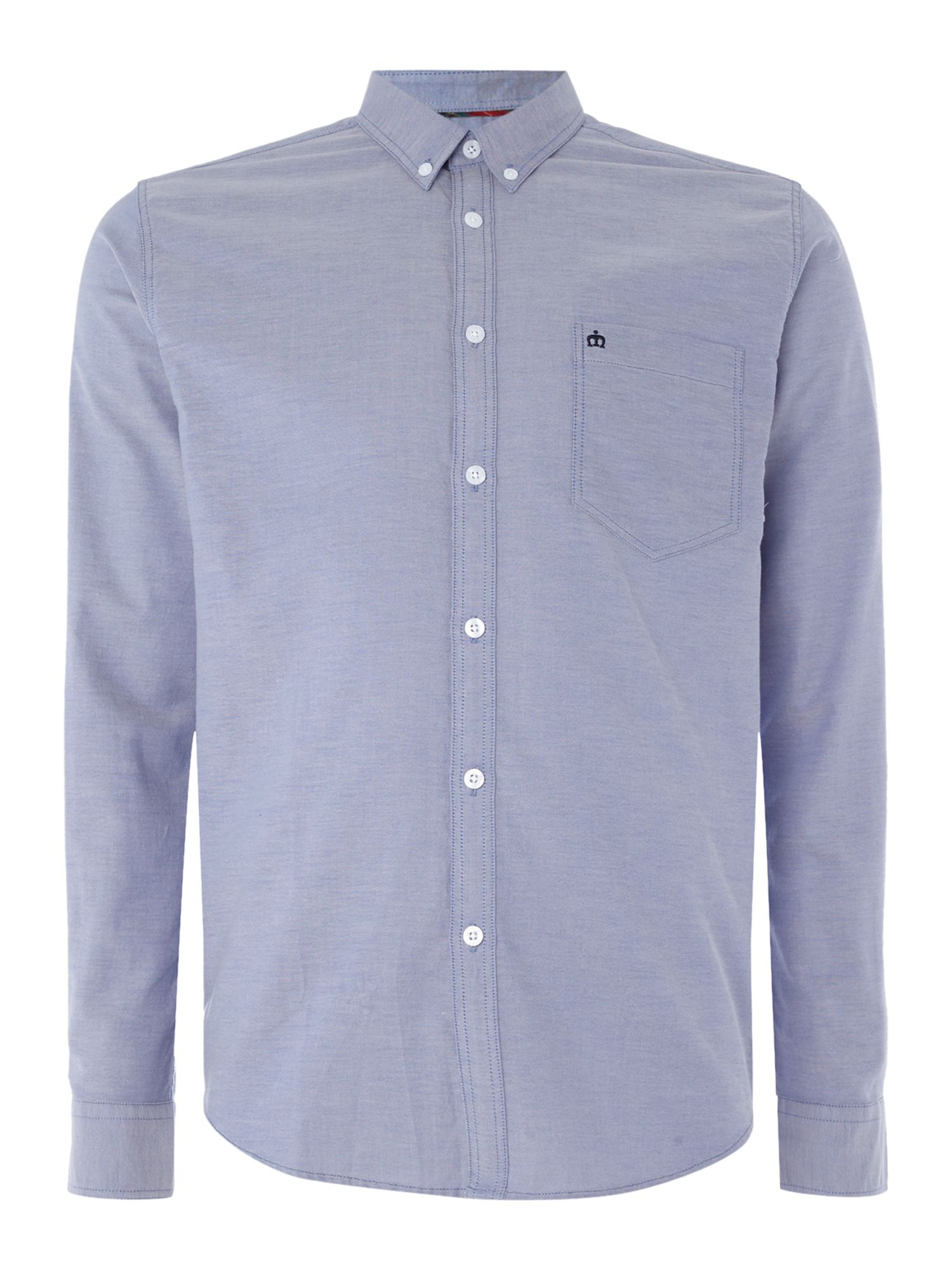 Men 39 s merc merc long sleeve button down oxford shirt blue for Oxford long sleeve button down shirt