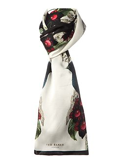 Breiden bejewelled shadow silk long scarf