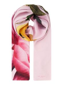 Ted Baker Calan citrus bloom split scarf
