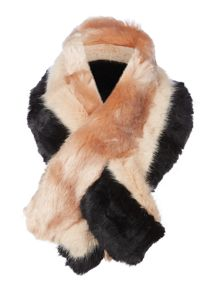 Ted Baker Wyla triple stripe faux fur scarf