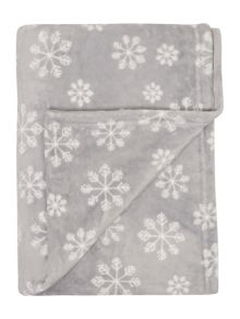 Linea Supersoft snowflake fleece blanket