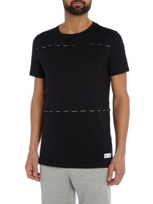Hype Black Taping Short Sleeve Crew Neck T Shirt