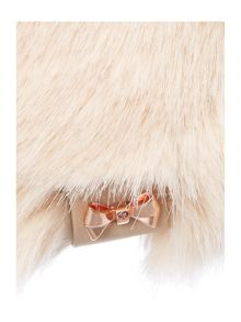 Ted Baker Wande mini bow detail faux fur hat