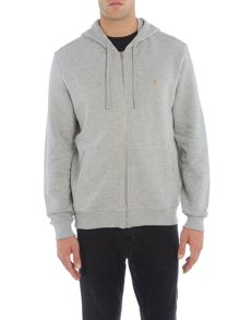 Farah Dale regular fit zip through hoodie