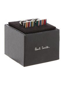 Paul Smith London Multistripe Rectangle Cufflink