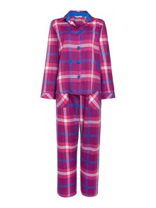 Cyberjammies Magenta check pyjama set