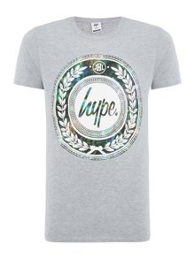 Hype Night Garden Reef Print Crew Neck T Shirt