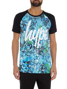 Hype Lights All Over Print Raglan Short Sleeve T Shirt