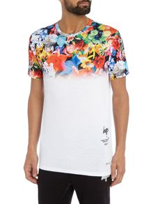 Hype All Over Floral Fade Print Crew Neck T Shirt