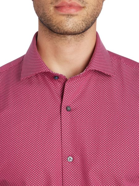 Ted Baker Tamson Square Geo Jacquard Shirt