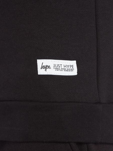 Hype Black Taping Crew Neck Sweat Top