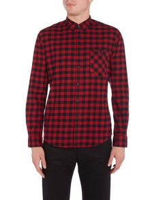 Merc Merc Long Sleeve Square Check Shirt