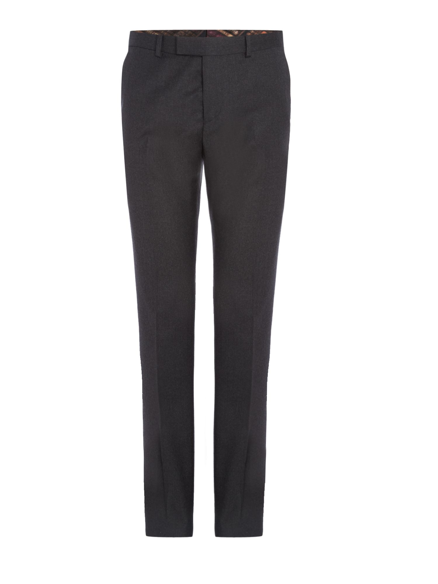Mens Ted Baker Pudditt Flannel Suit Trouser Charcoal