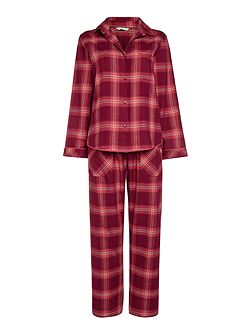 Berry check pyjama set