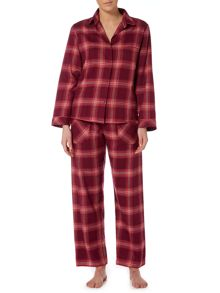 Cyberjammies Berry check pyjama set